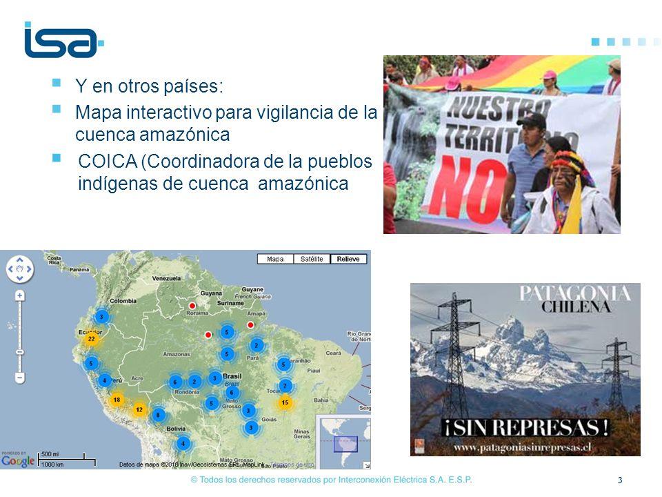 3 Y en otros países: Mapa interactivo para vigilancia de la cuenca amazónica COICA (Coordinadora de la pueblos indígenas de cuenca amazónica
