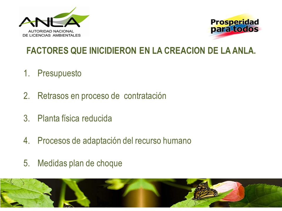 AUTORIDAD NACIONAL DE LICENCIAS AMBIENTALES 1.