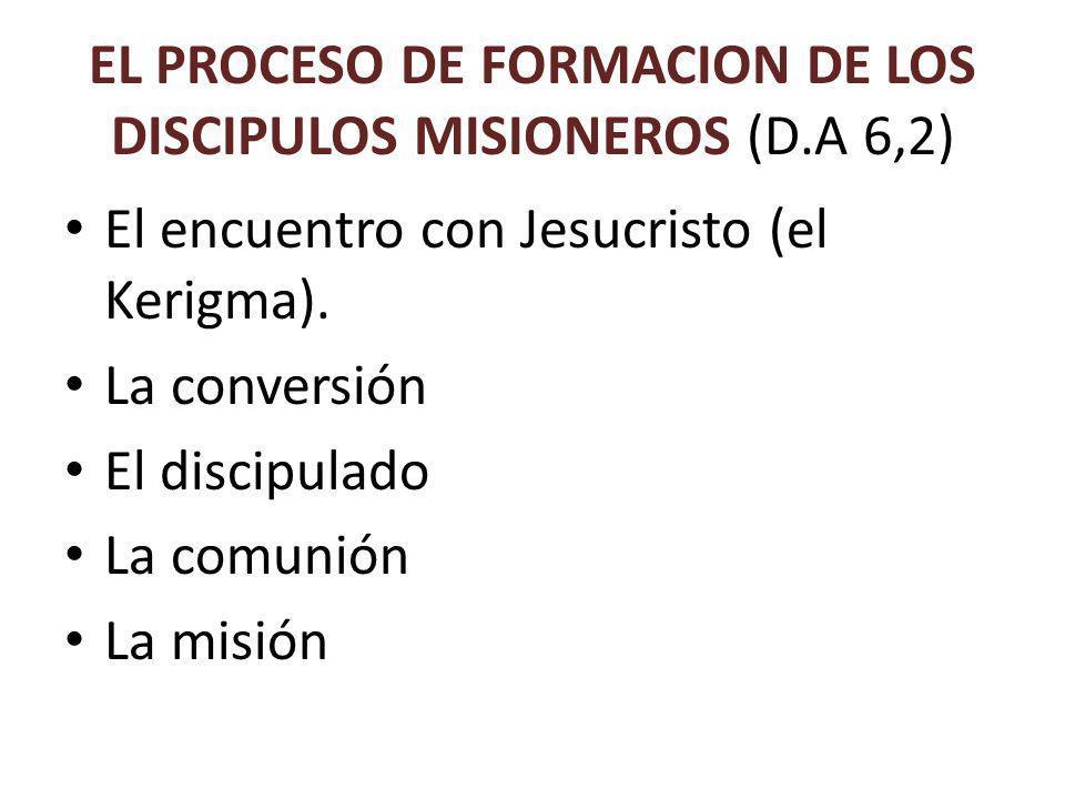 EL PROCESO DE FORMACION DE LOS DISCIPULOS MISIONEROS (D.A 6,2) El encuentro con Jesucristo (el Kerigma).