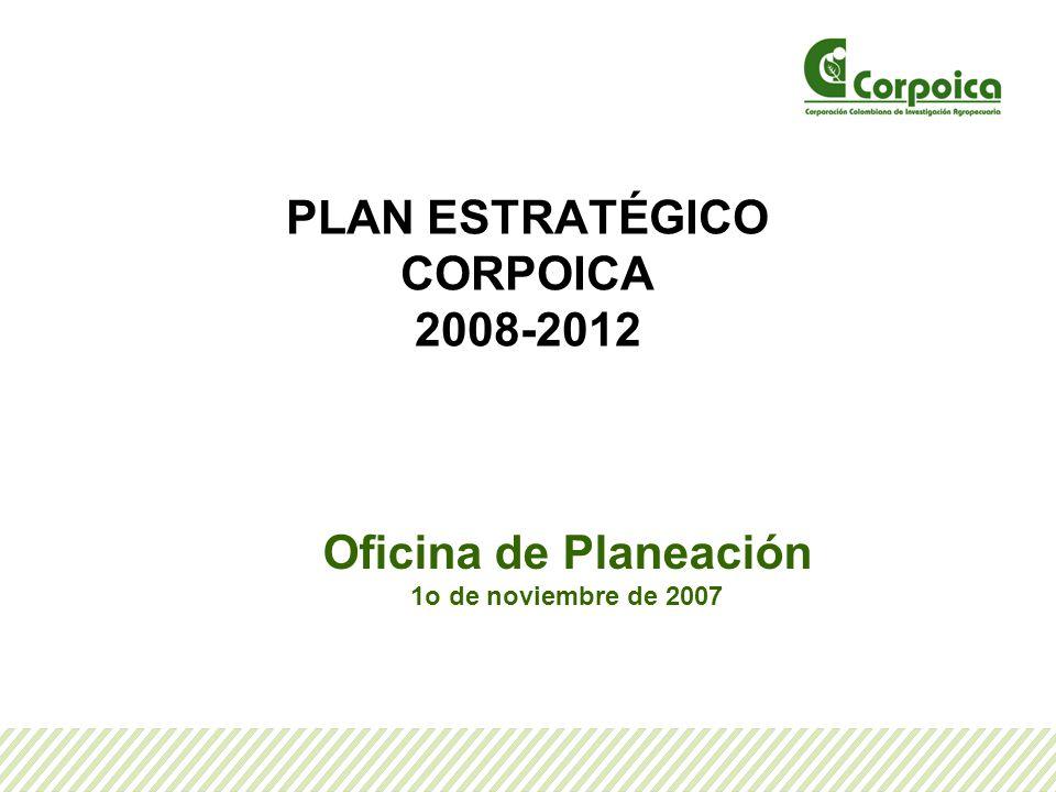 PLAN ESTRATÉGICO CORPOICA 2008-2012 Oficina de Planeación 1o de noviembre de 2007