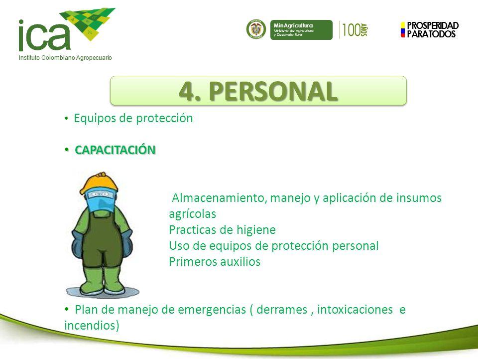 PROSPERIDAD PARA TODOS ca Instituto Colombiano Agropecuario MinAgricultura Ministerio de Agricultura y Desarrollo Rural PROSPERIDAD PARA TODOS ca Instituto Colombiano Agropecuario MinAgricultura Ministerio de Agricultura y Desarrollo Rural 4.