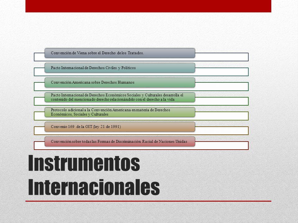 Instrumentos Internacionales Convención de Viena sobre el Derecho de los Tratados.Pacto Internacional de Derechos Civiles y PolíticosConvención Americ