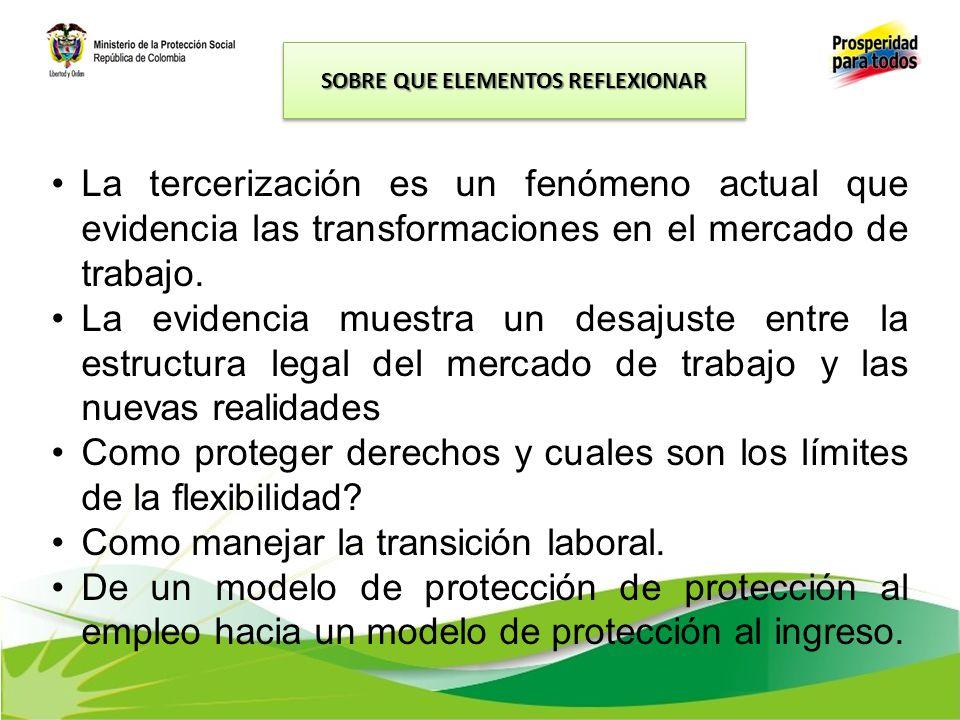 La tercerización es un fenómeno actual que evidencia las transformaciones en el mercado de trabajo. La evidencia muestra un desajuste entre la estruct