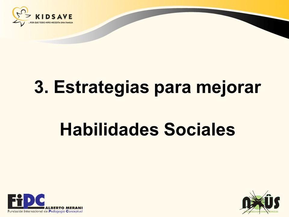 3. Estrategias para mejorar Habilidades Sociales