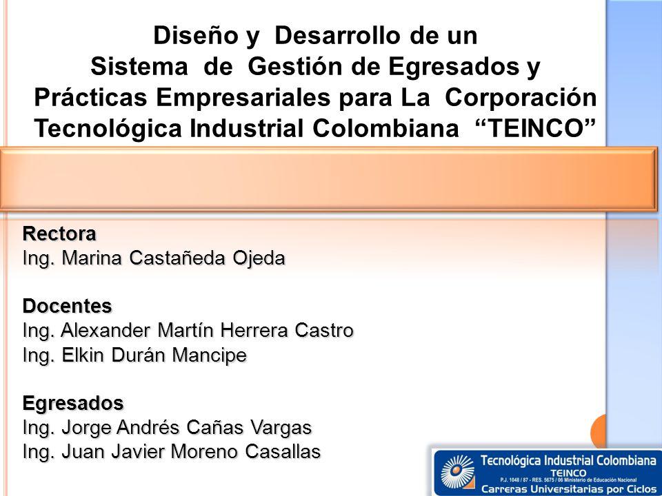 Diseño y Desarrollo de un Sistema de Gestión de Egresados y Prácticas Empresariales para La Corporación Tecnológica Industrial Colombiana TEINCO Recto