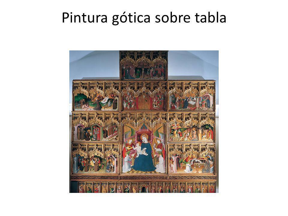 Pintura gótica sobre tabla