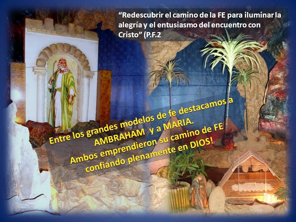 El camino de FE de María, no fue un camino fácil, pero totalmente adherida a la Voluntad de Dios, lo recorrió heróicamente hasta el Calvario y el nacimiento de la Iglesia!