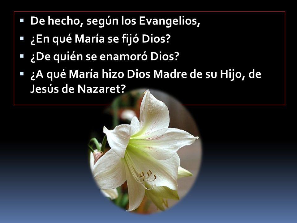 Vamos, pues, a ver qué María nos presentan los Evangelios y qué María nos muestran algunas de las apariciones.
