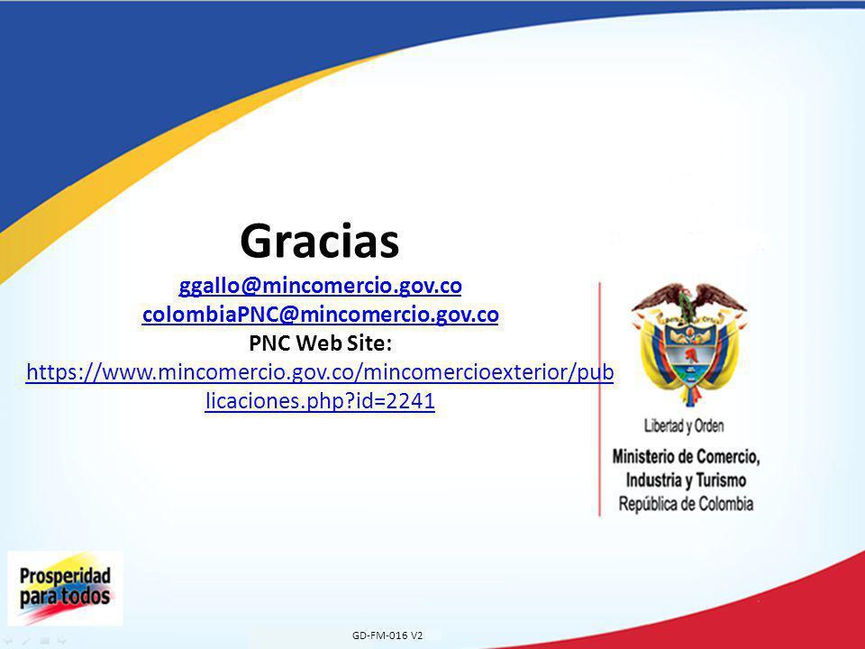 GD-FM-016 V2 Gracias ggallo@mincomercio.gov.co colombiaPNC@mincomercio.gov.co PNC Web Site: https://www.mincomercio.gov.co/mincomercioexterior/pub licaciones.php?id=2241 ggallo@mincomercio.gov.co colombiaPNC@mincomercio.gov.co https://www.mincomercio.gov.co/mincomercioexterior/pub licaciones.php?id=2241