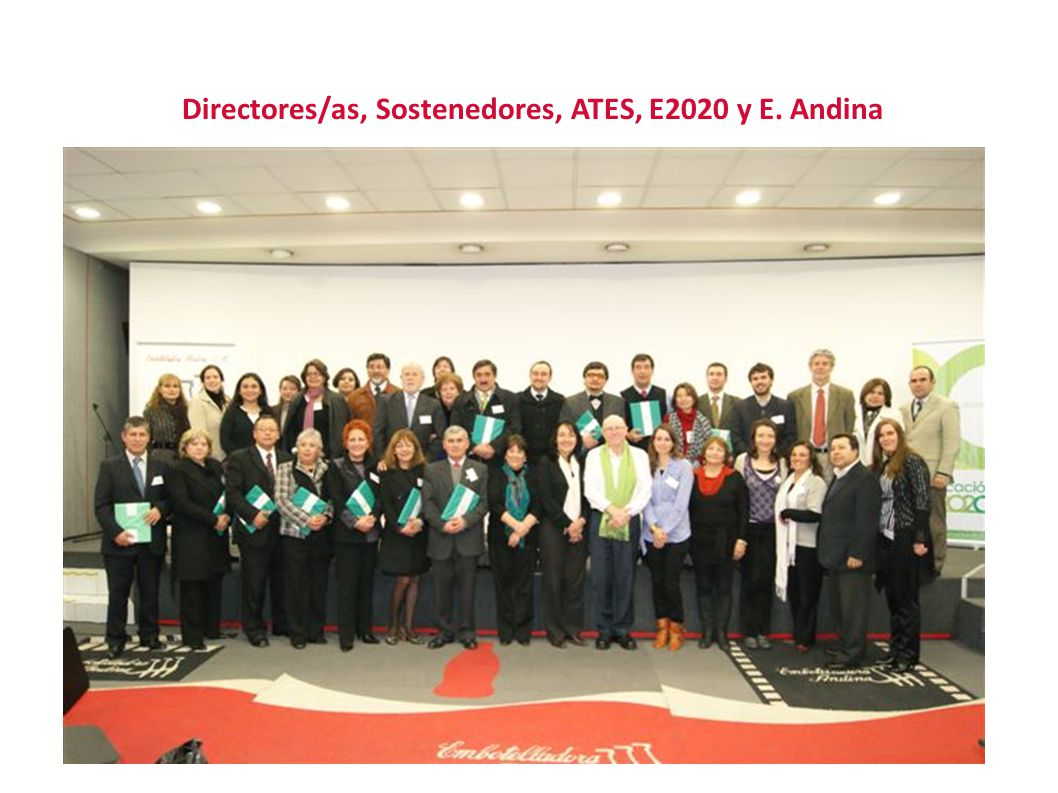 Directores/as, Sostenedores, ATES, E2020 y E. Andina