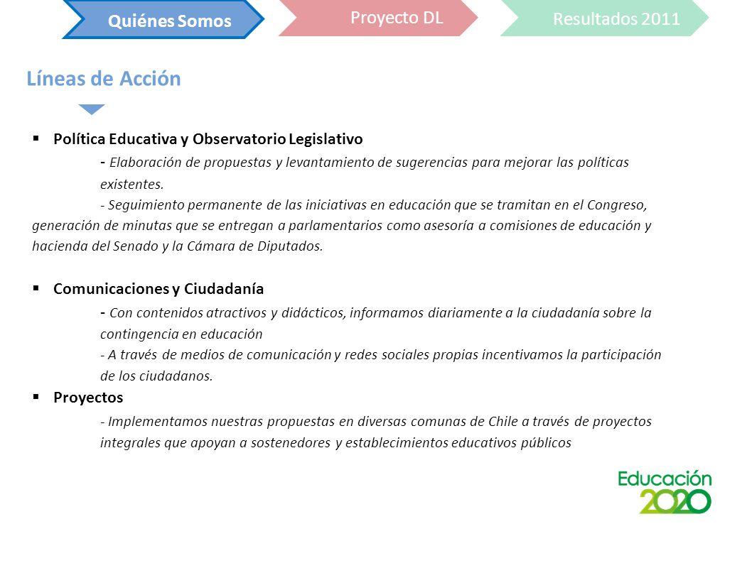 Política Educativa y Observatorio Legislativo - Elaboración de propuestas y levantamiento de sugerencias para mejorar las políticas existentes.