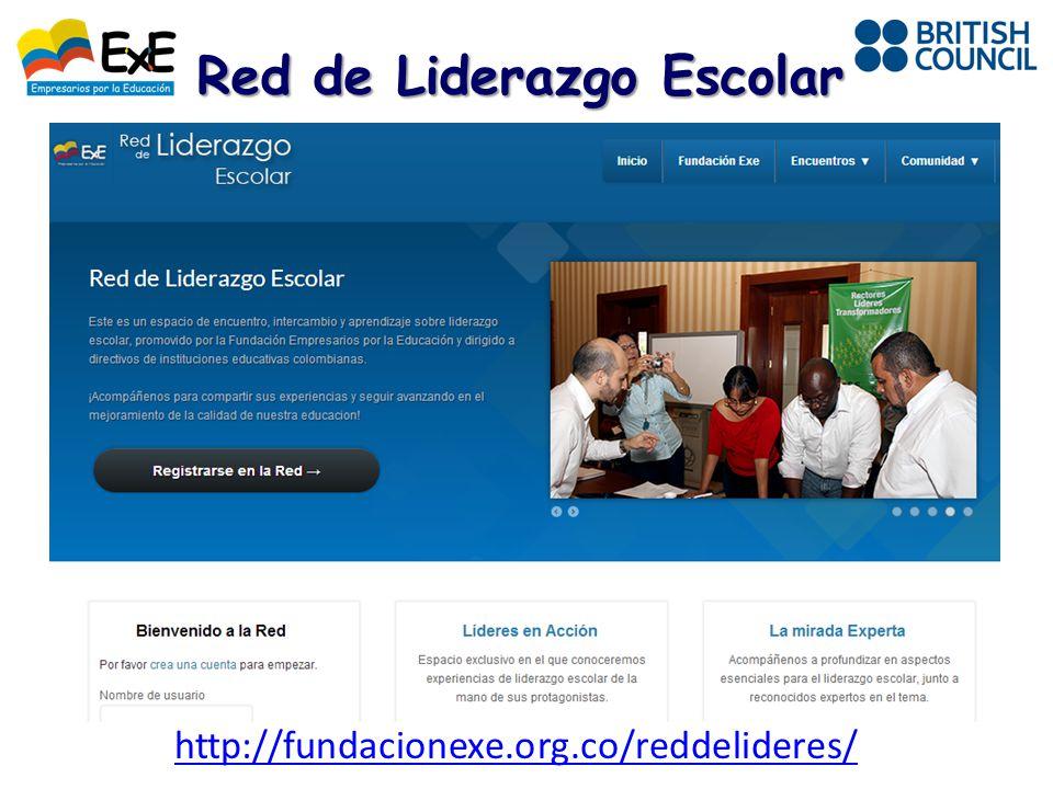 http://fundacionexe.org.co/reddelideres/ Red de Liderazgo Escolar
