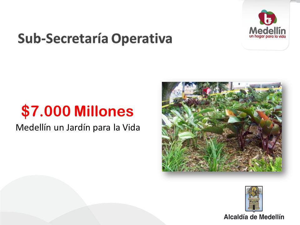 Medellín un Jardín para la Vida $7.000 Millones
