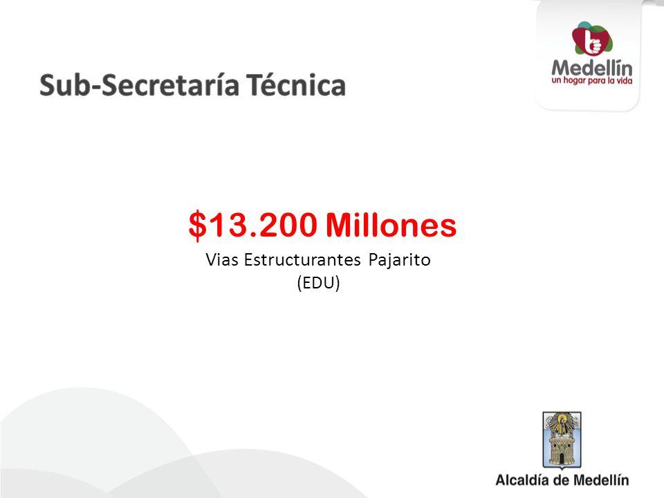 Vias Estructurantes Pajarito (EDU) $13.200 Millones
