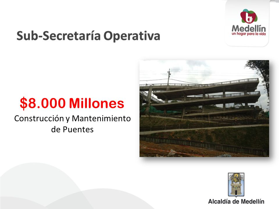 Mantenimiento y Poda de Zonas Verdes Urbanas $28.000 Millones Mantener en buen estado los 8.270.000 de m² de 2012 a 2015 Indicador de Producto