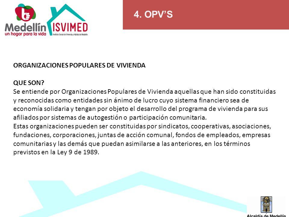4.OPVS ORGANIZACIONES POPULARES DE VIVIENDA QUE SON.