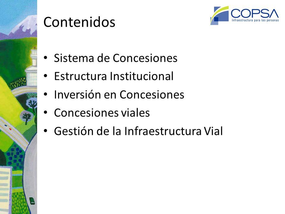 Sistema de Concesiones de Obras de Infraestructura Pública: Antecedentes Es un mercado regulado.