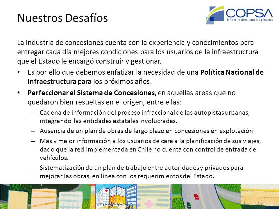 Infraestructura y Concesiones en Chile Asociación de Concesionarios de Obras de Infraestructura Pública A.G.