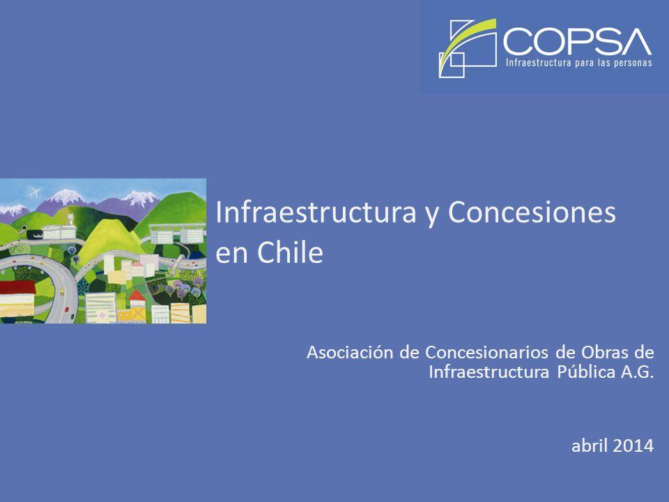 Infraestructura y Concesiones en Chile Asociación de Concesionarios de Obras de Infraestructura Pública A.G. abril 2014