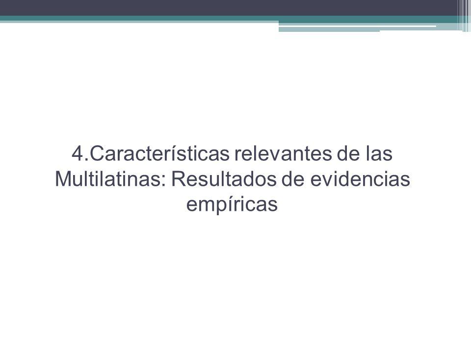 4.Características relevantes de las Multilatinas: Resultados de evidencias empíricas