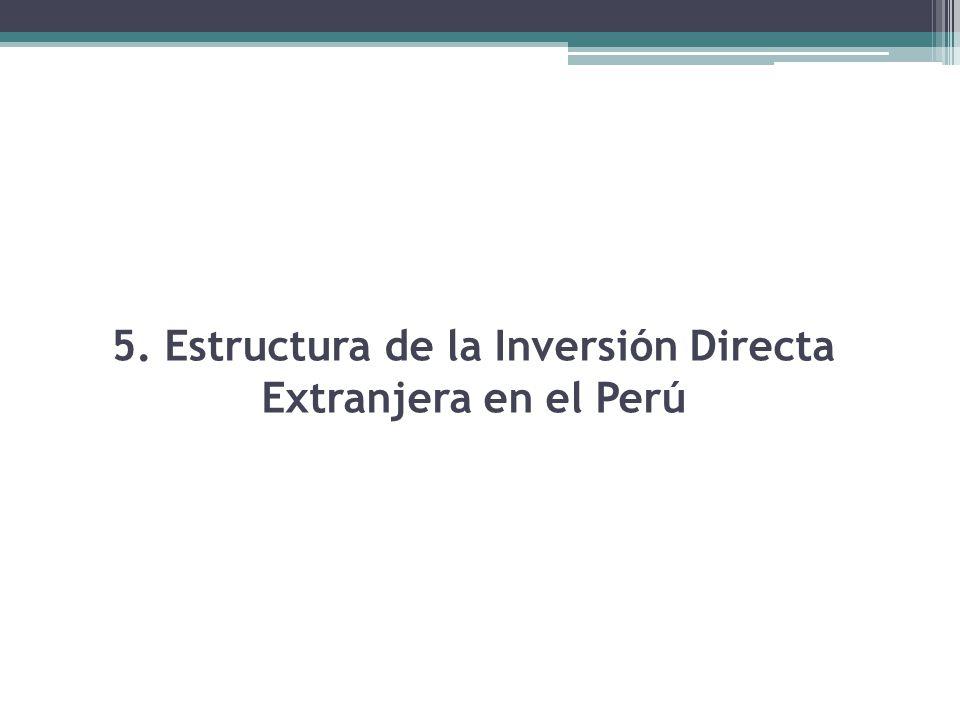 5. Estructura de la Inversión Directa Extranjera en el Perú