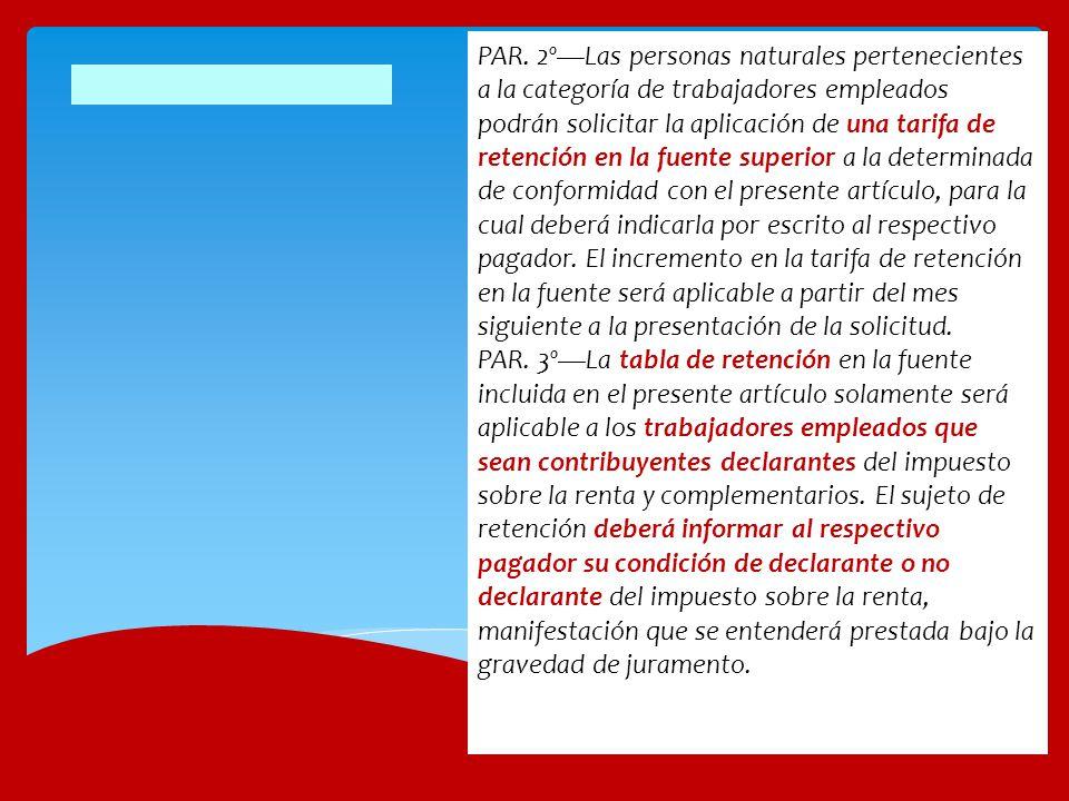 Aclaraciones a los procedimientos de retención laboral 3)Los asalariados que utilizan el procedimiento 2, continuarán aplicando el porcentaje fijo calculado en diciembre de 2012, hasta el nuevo porcentaje en junio de 2013, pero a partir de abril 1 será obligatorio comparar con la retención mínima del art.