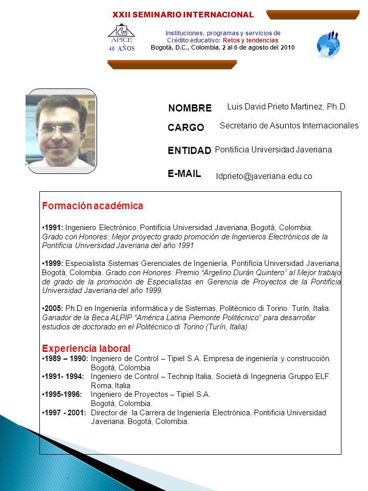 2002- 2005:Consultor en gestión de proyectos, Distrito de Alta Tecnología del Piemonte Italiano (Fondazione Torino Wireless).