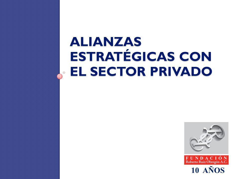 ALIANZAS ESTRATÉGICAS CON EL SECTOR PRIVADO 10 AÑOS