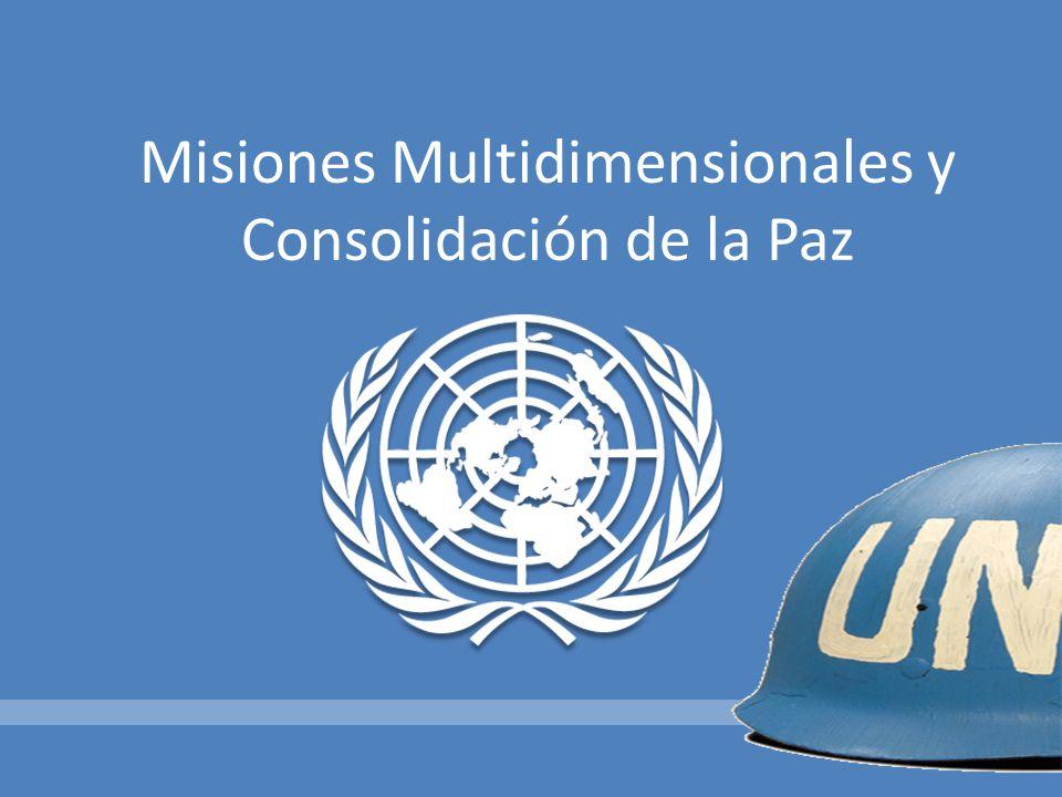 Misiones administradas por el Departamento de Mantenimiento de la Paz