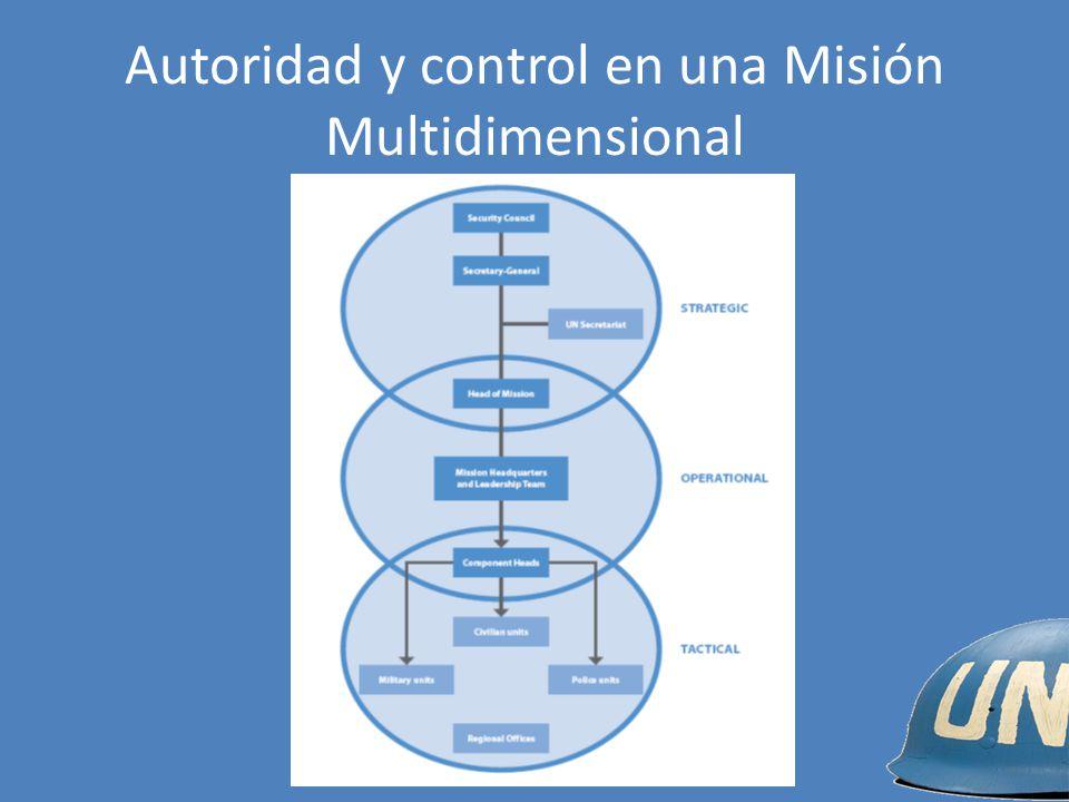 Autoridad y control en una Misión Multidimensional