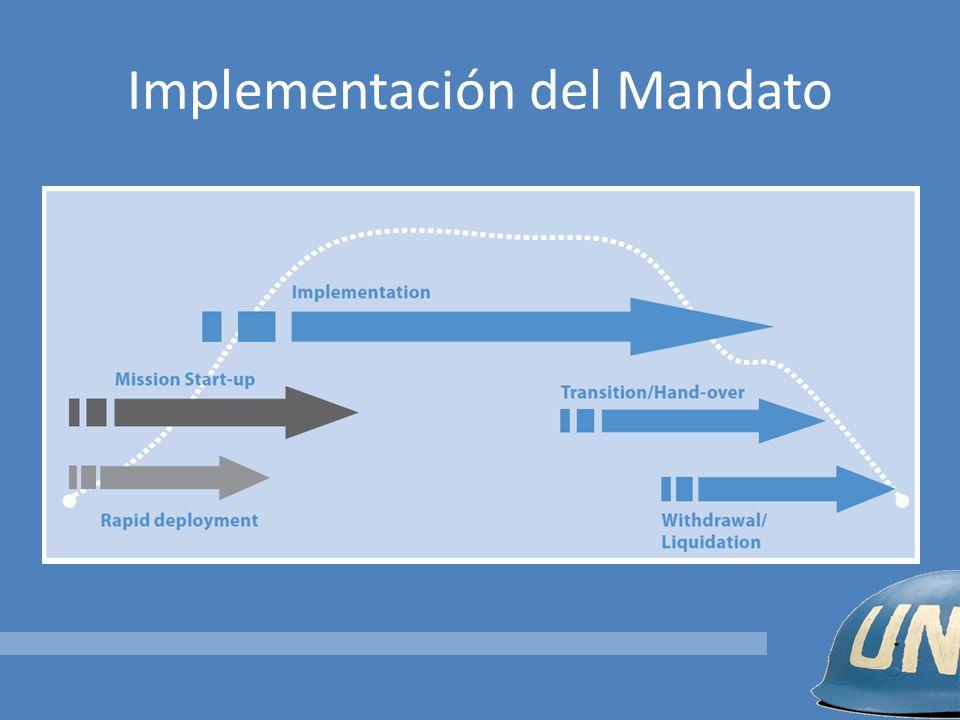 Implementación del Mandato