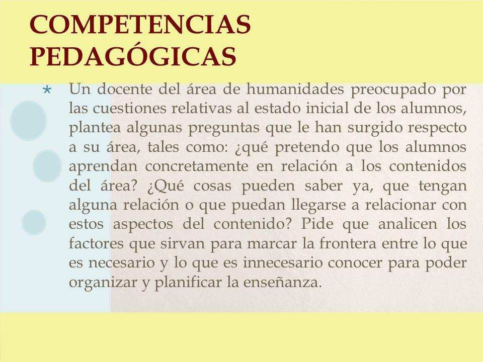 COMPETENCIAS PEDAGÓGICAS 11.