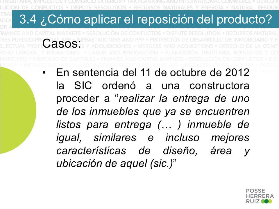 3.4 ¿Cómo aplicar el reposición del producto.