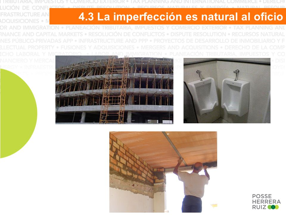 4.3 La imperfección es natural al oficio
