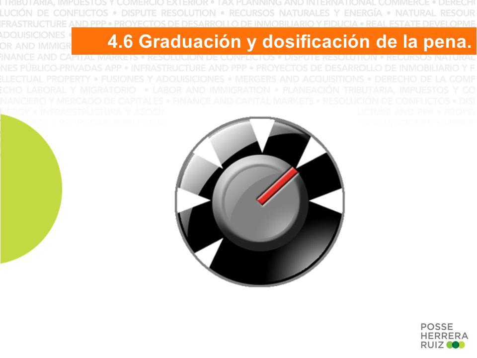 4.6 Graduación y dosificación de la pena.