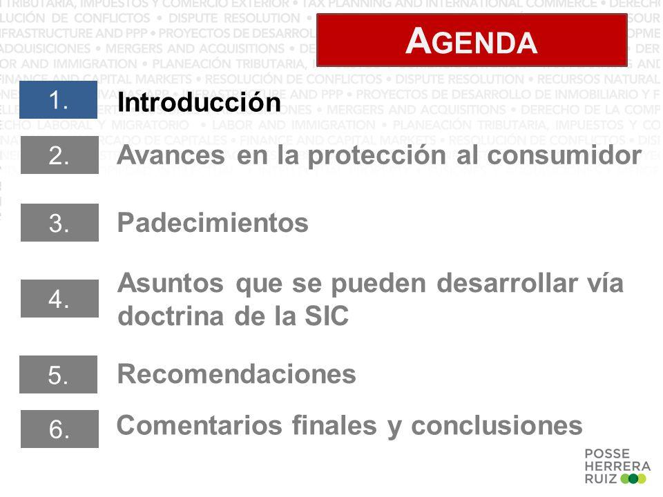 A GENDA Introducción 1. Padecimientos 2.
