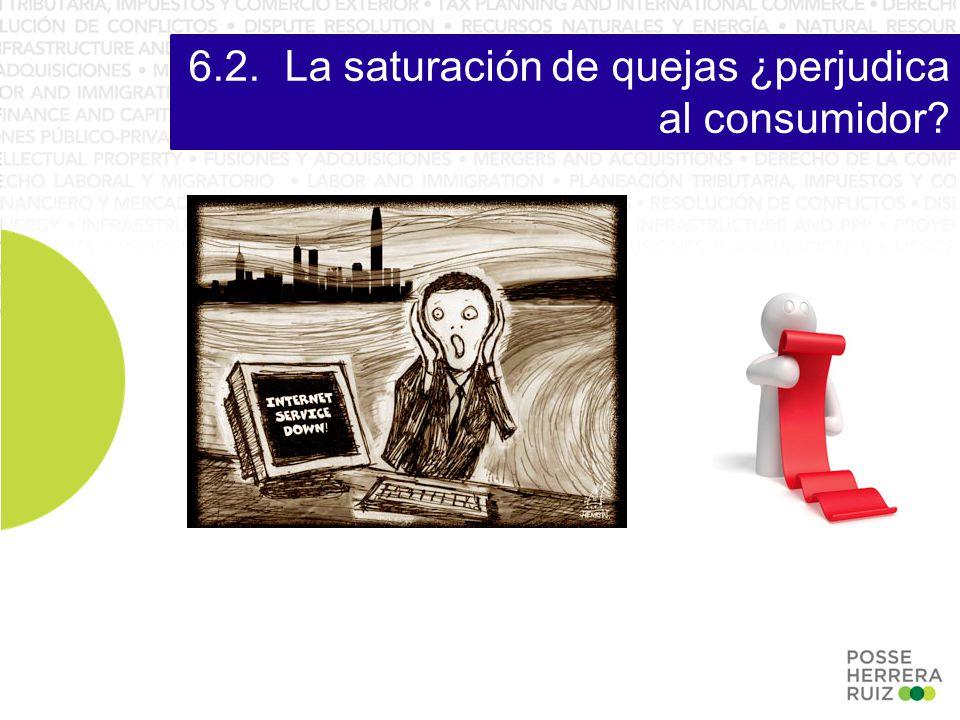 6.2.La saturación de quejas ¿perjudica al consumidor