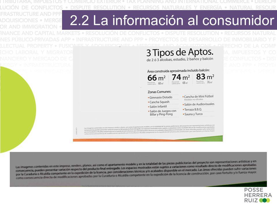 2.2 La información al consumidor