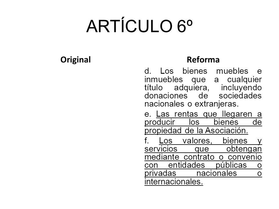 ARTÍCULO 6º OriginalReforma d.