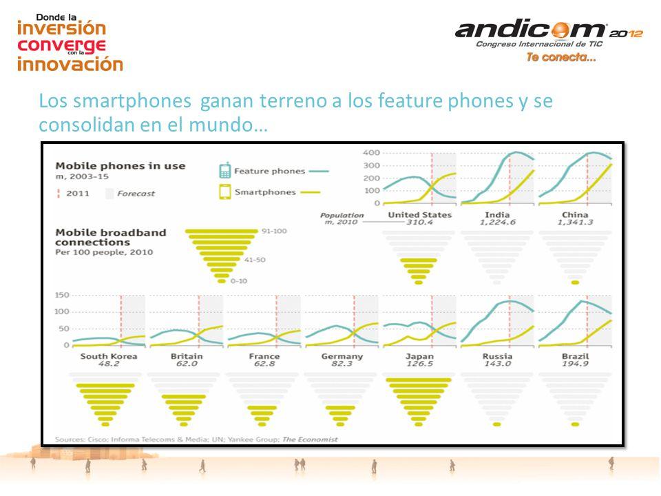 Los smartphones ganan terreno a los feature phones y se consolidan en el mundo…