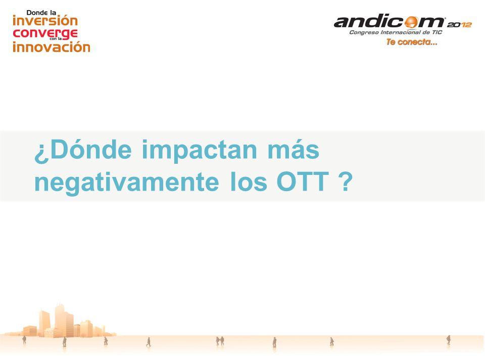 ¿Dónde impactan más negativamente los OTT ?