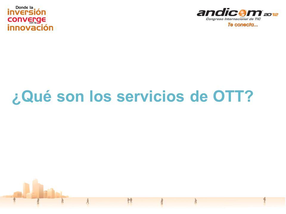 ¿Qué son los servicios de OTT?