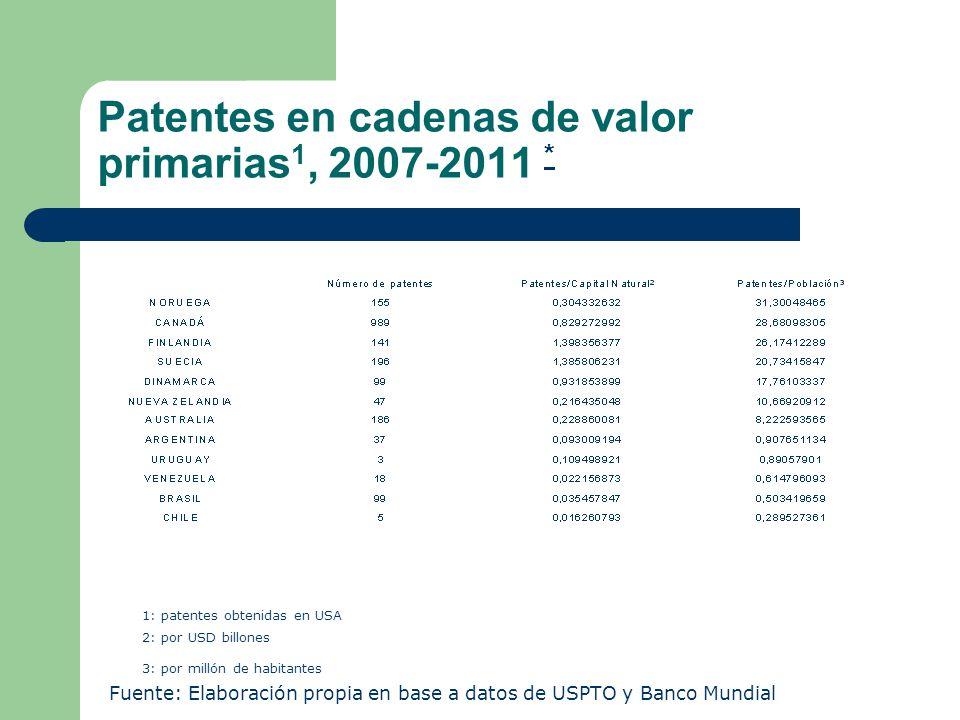 Cadenas de valor en agroalimentos** Fuente: Bisang et al (2011)