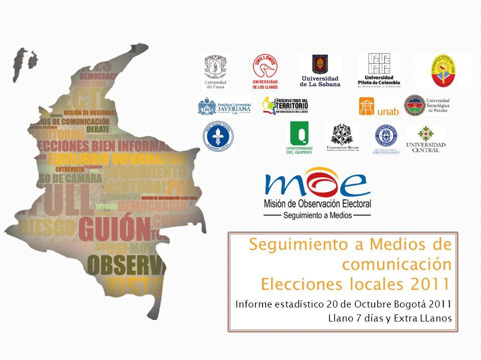 Informe estadístico 20 de Octubre Bogotá 2011 Llano 7 días y Extra LLanos