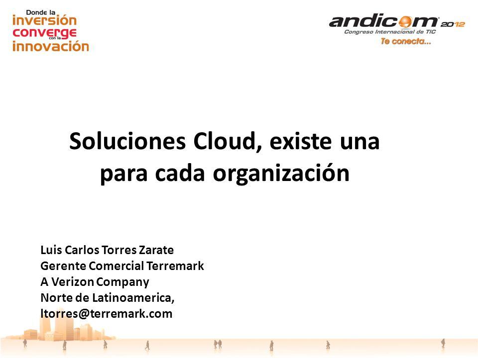 Luis Carlos Torres Zarate Gerente Comercial Terremark A Verizon Company Norte de Latinoamerica, ltorres@terremark.com Soluciones Cloud, existe una par