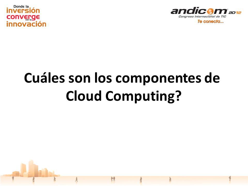 Cuáles son los componentes de Cloud Computing?