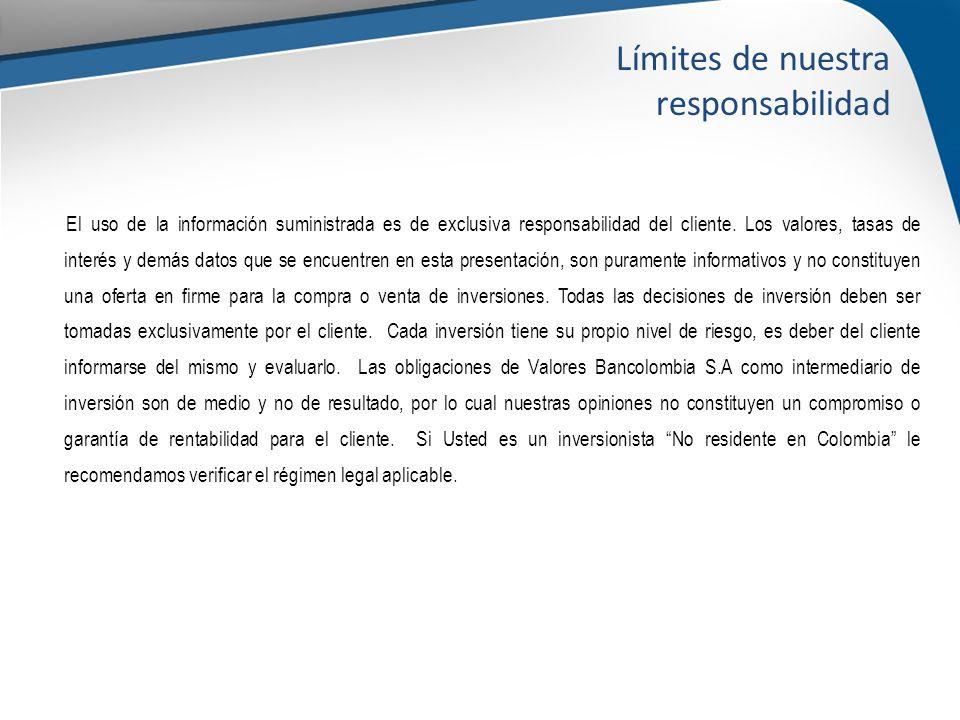 El uso de la información suministrada es de exclusiva responsabilidad del cliente.
