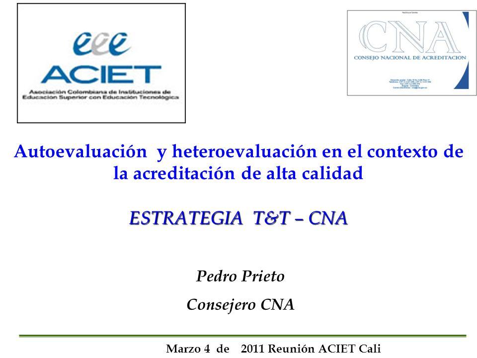 MODELO DE ACREDITACION DEL CNA MODELO DE ACREDITACION DEL CNA Lineamientos para la Acreditaci ó n Criterios: Pautas de conducta que definen el Marco Ético.