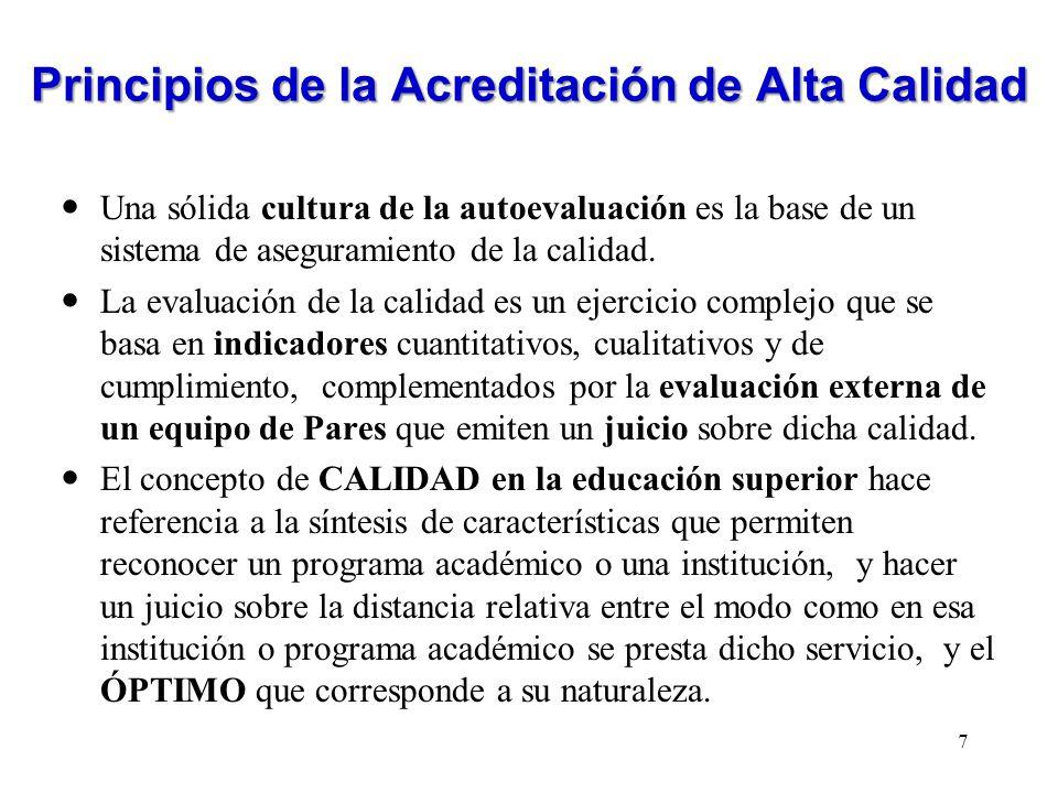 Factores y características en la evaluación de la calidad institucional FACTORCARACTERISTICA 3.