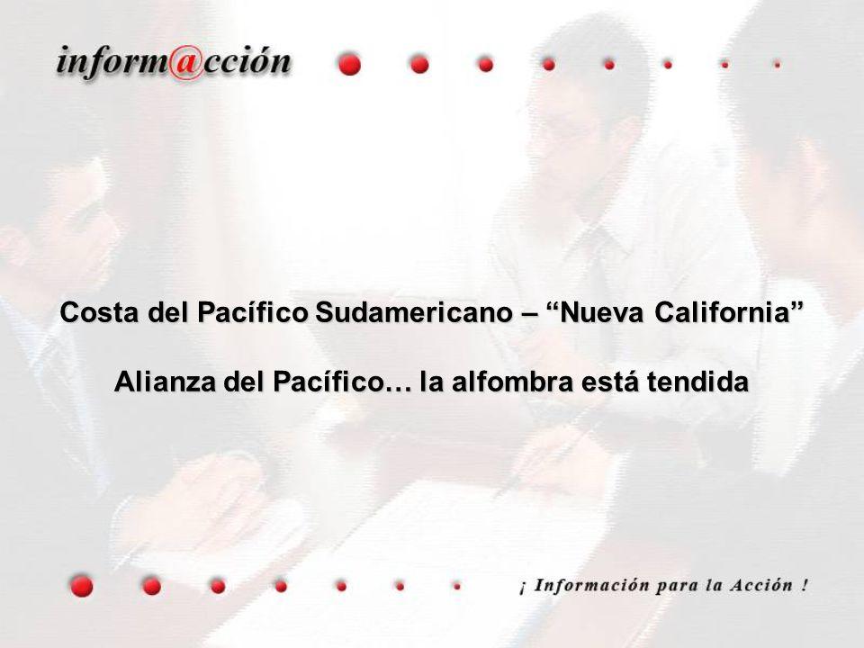Costa del Pacífico Sudamericano – Nueva California Alianza del Pacífico… la alfombra está tendida